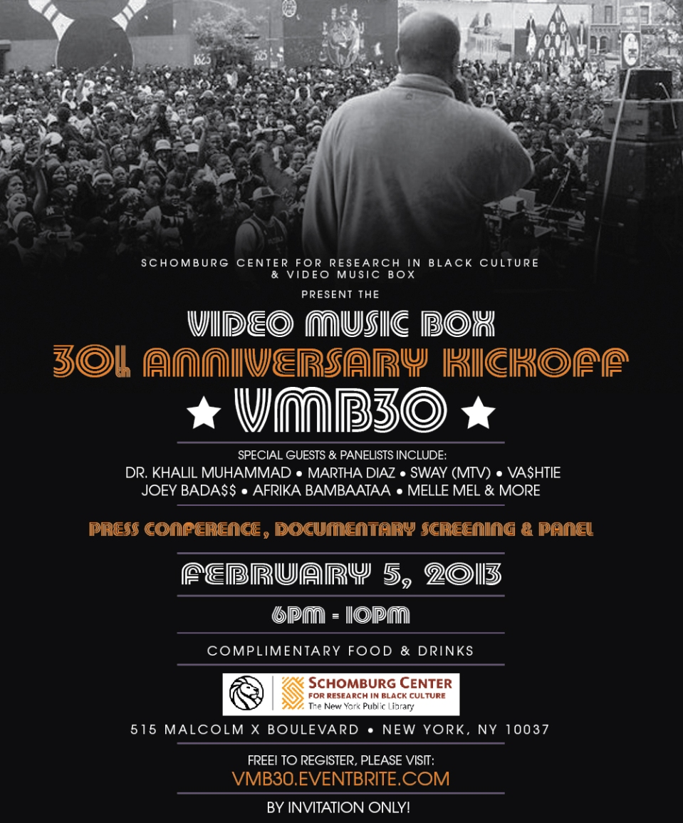 Video Music Box 30th Anniversary Kick-off at the Schomburg Center for Research in Black Culture